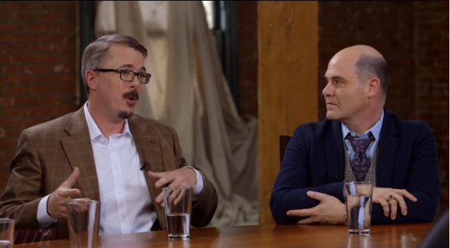 Vince Gilligan and Matthew Weiner, TV showrunners Breaking Bad and Mad Men