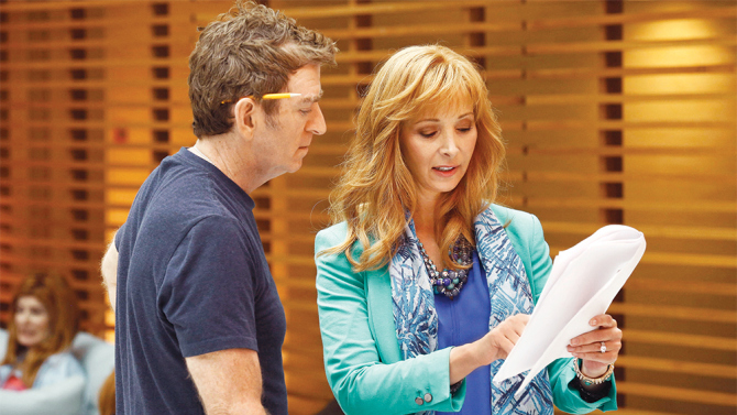 Michael Patrick King and Lisa Kudrow